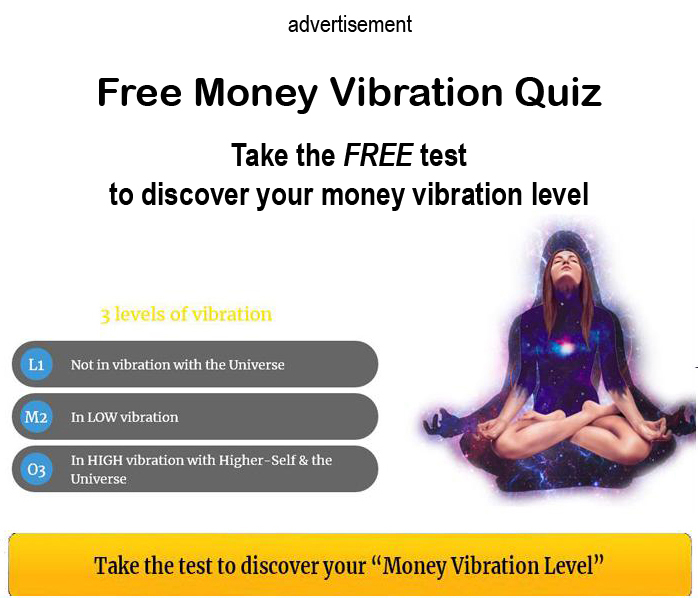 Take the free test to discover your Money Vibration Level