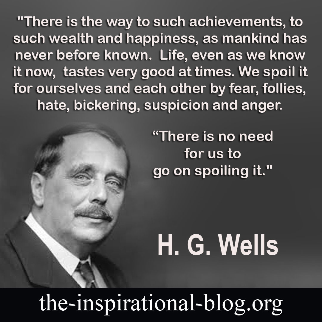 Inspirational H.G. Wells quotes